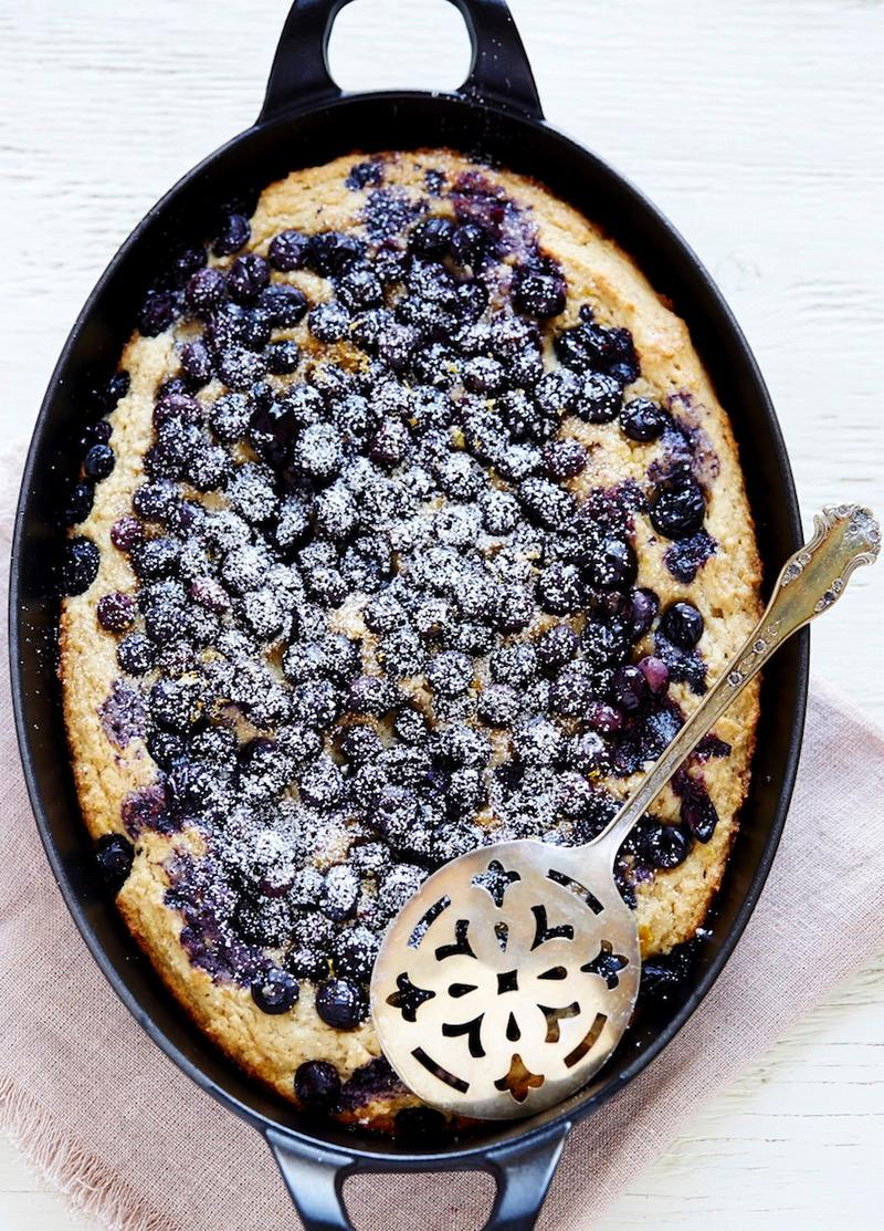 Blueberry and Ricotta Skillet Cake
